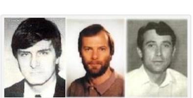 Da sinistra, Marco Lucchetta, Alessandro Ota e Dario D'Angelo, morti a Mostar (Bosnia) il 28 gennaio 1994.