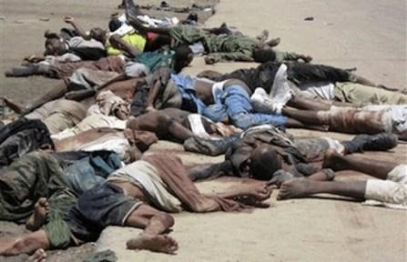Cristiani massacrati da Boko Haram.