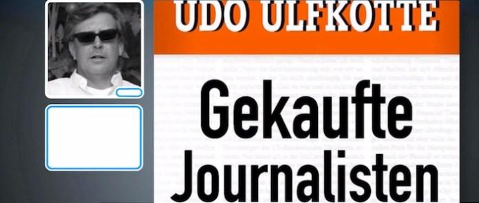 """La copertina del libro di Udo Ulfkotte """"Giornalisti comprati""""."""