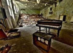 L'aula magna del conservatorio di Chernobyl.