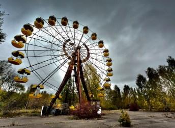 La ruota del luna park di Chernobyl.