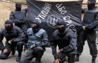 Paramilitari del battaglione Azov.