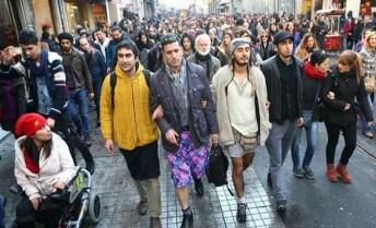Manifestazione nelle strade di Istanbul
