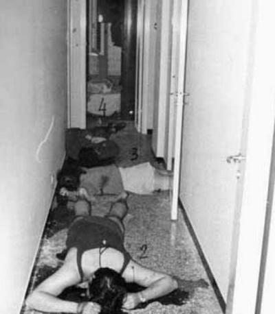 L'esecuzione di via Fracchia. I corpi di Annamaria Ludmann, Piero Panciarelli e Lorenzo Betassa.