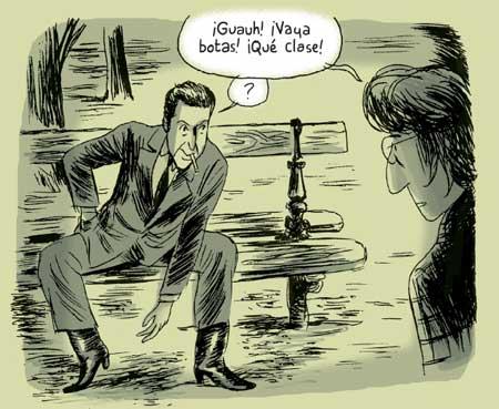 Leonard Cohen in un fumetto di Charles Berberian