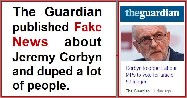 Guardian Corbyn Fake News