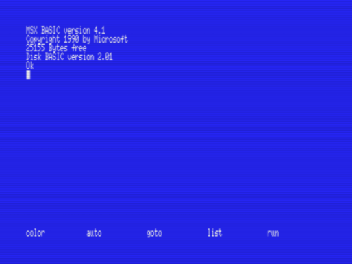 MSX Basic Screen