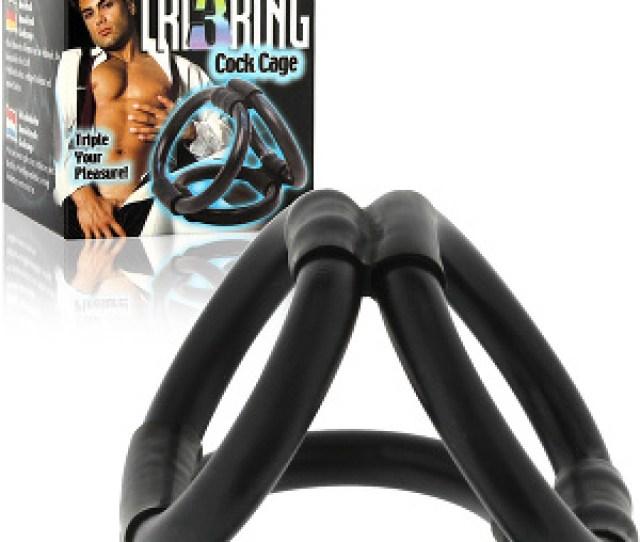 Cock Cage Tri Ring Black