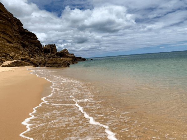 A secluded beach in the Algarve, Portugal