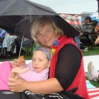 Poppy & Mummy under the umbrella