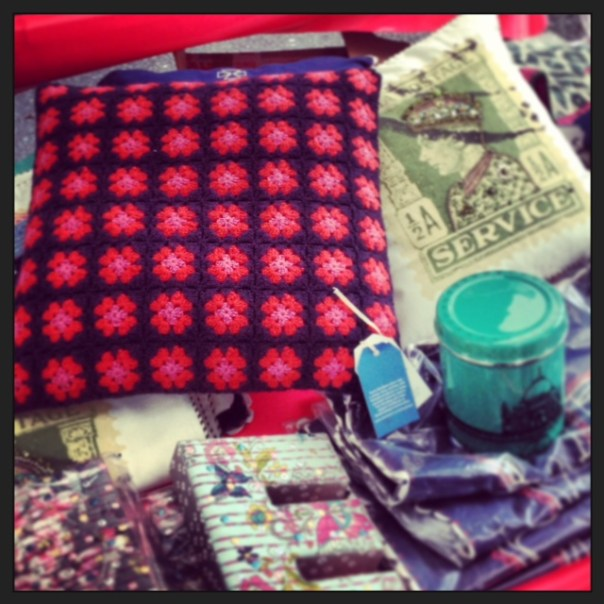 Beautiful hand crafted cushion for sale on the Monsoon stall