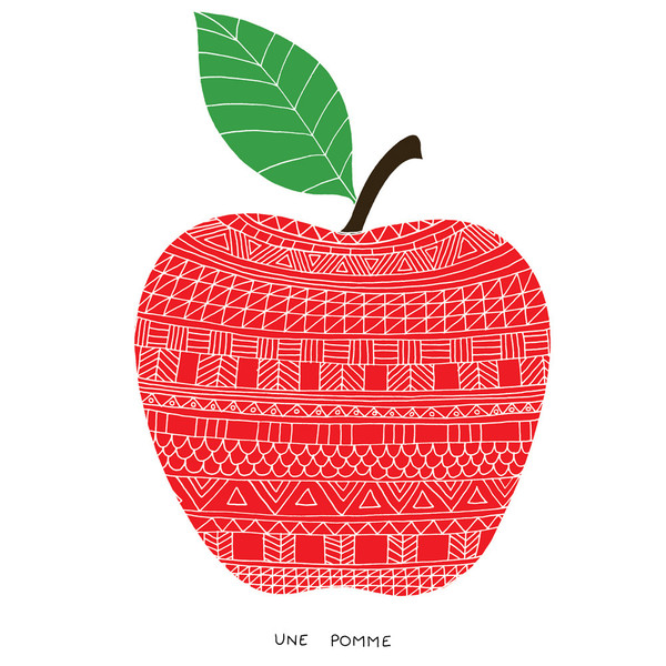 Une Pomme signed print - £40