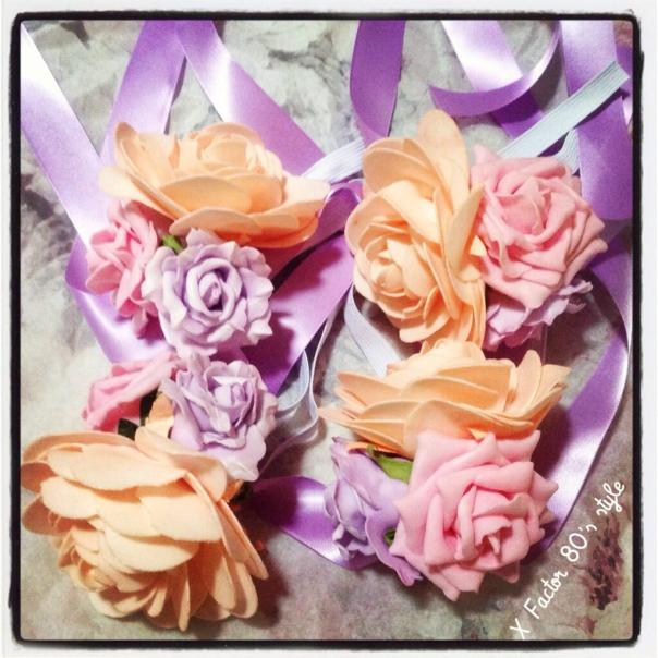 'Loving Alice' corsages worn by the X Factor dancers