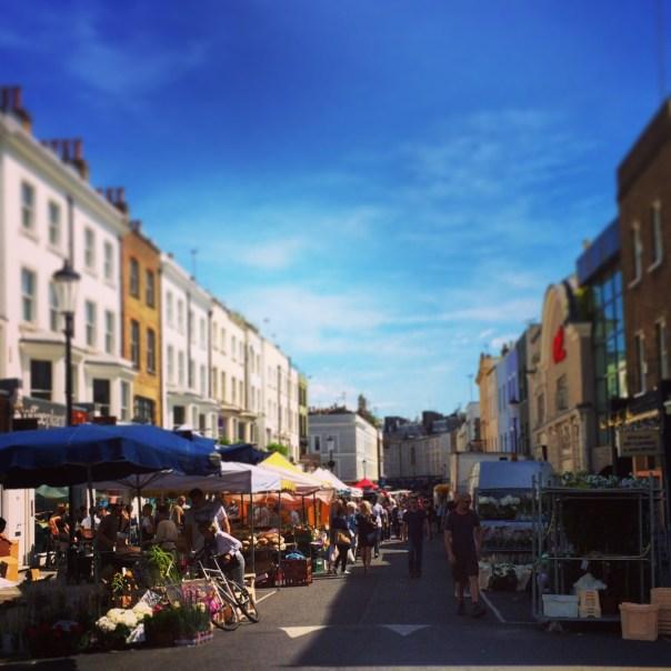 Portobello Road in all its sunshiny glory...