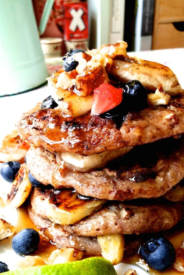 Banana, blueberry and pecan pancakes from A Modern Way to Eat by Anna Jones