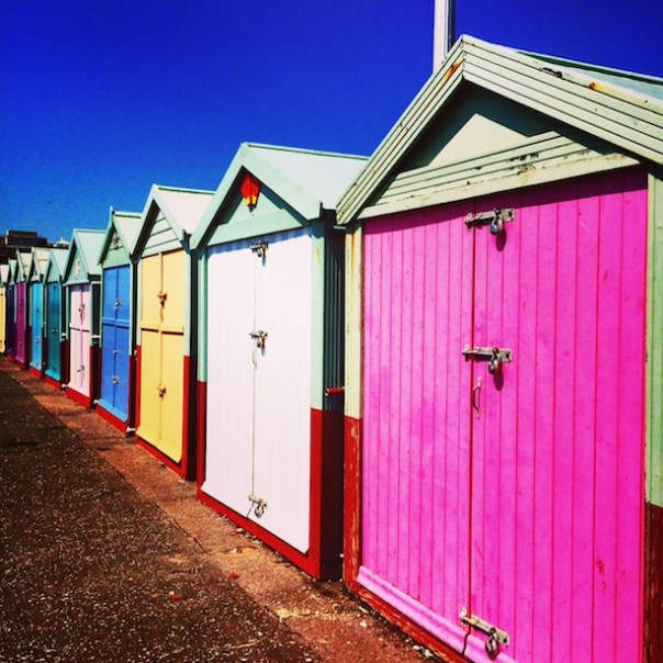 Beach Huts in Brighton - Poppy Loves