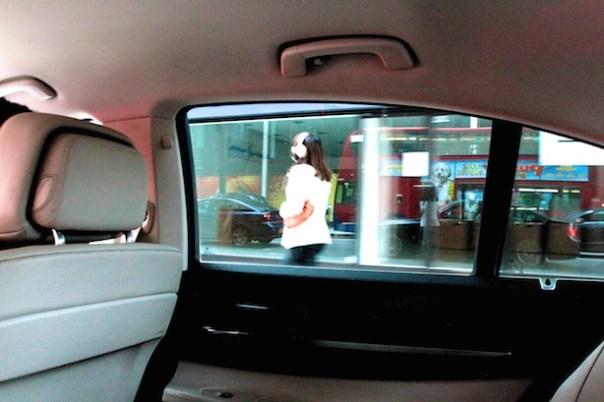 UBER taxi interior