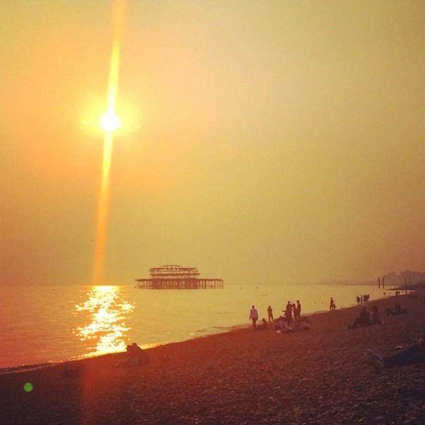 Sunset on Brighton Beach