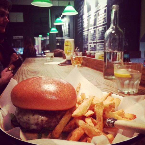Burgers with Nat at Honest Burgers on Portobello Road