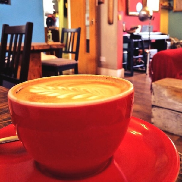 Latte love at Blighty Coffee