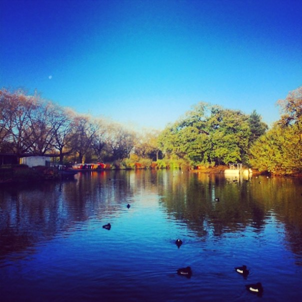 The lake in Finsbury Park...