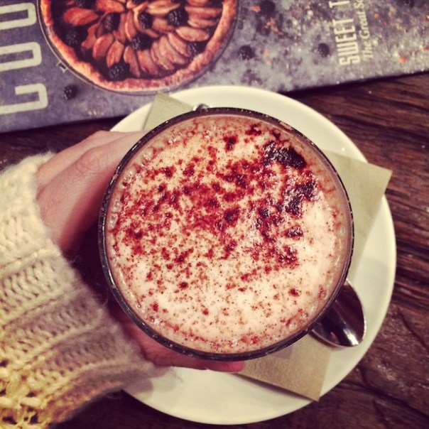 Hot chocolate at Pizza East