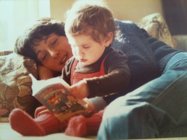 Me and my mum. Lucky, lucky me.