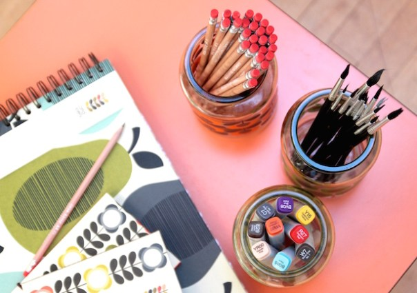 Stationery in Jars
