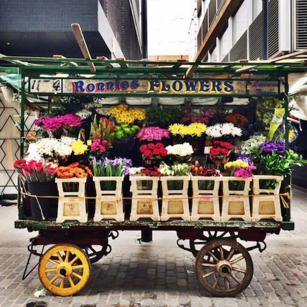 Ronnie's Flower Cart on Berwick Street Market