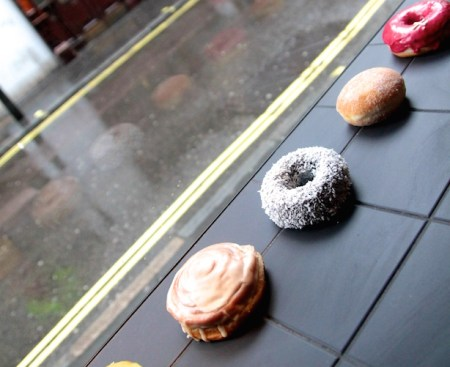 Crosstown Doughnuts in the window