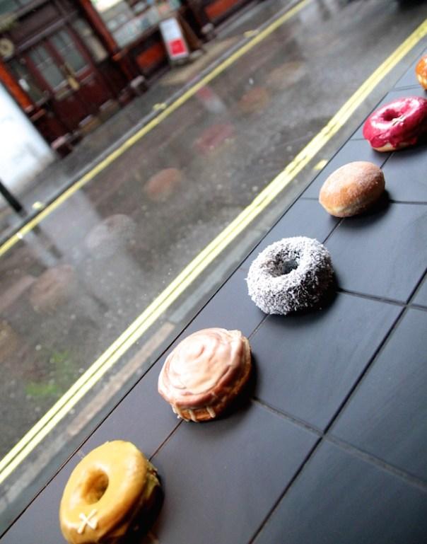 Crosstown Doughnuts in the window