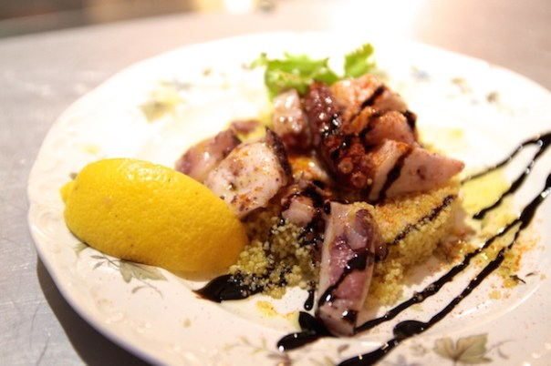 Octopus and couscous at Pescheria Mattiucci