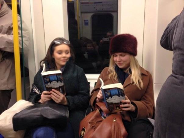 Girls reading The Miniaturist