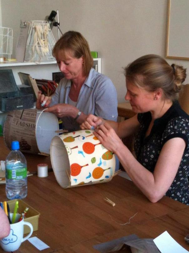 Making lampshades