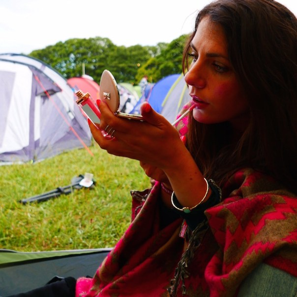 Applying Accessorize make up, ready for the night ahead...