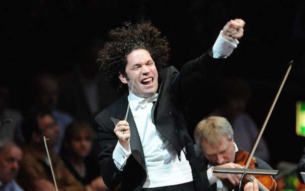 Gustavo Dudamel conductor of the Simon Bolivar Orchestra at the Proms  - pic from The Telegraph