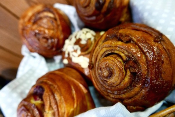 Cinnamon buns at Nordic Bakery