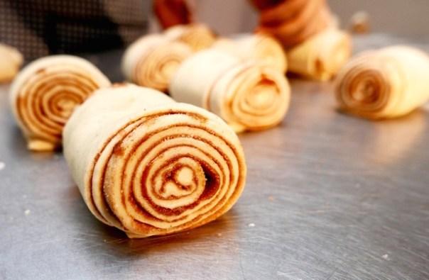 Uncooked cinnamon bun