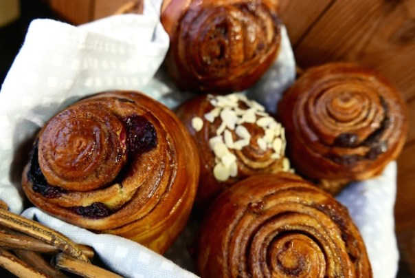 Cinnamon buns at Nordic Bakery