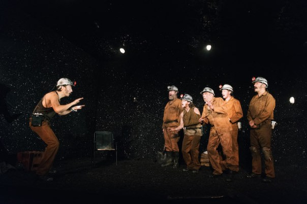 The cast of Land of Our Fathers - photo by Polly Thomas
