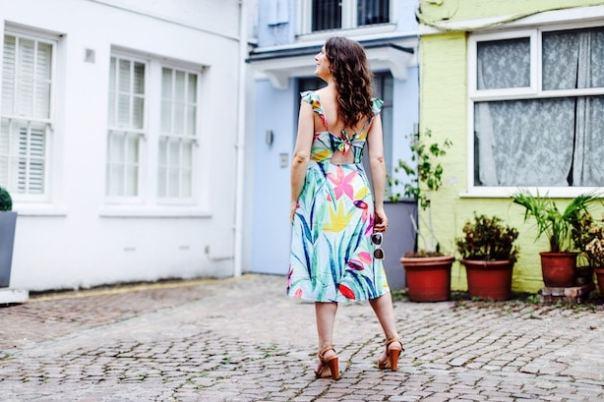 Jungle Frilled Midi Dress