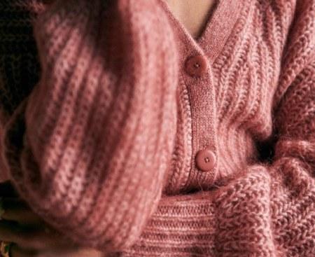 Sezane-Cardigan-Pink