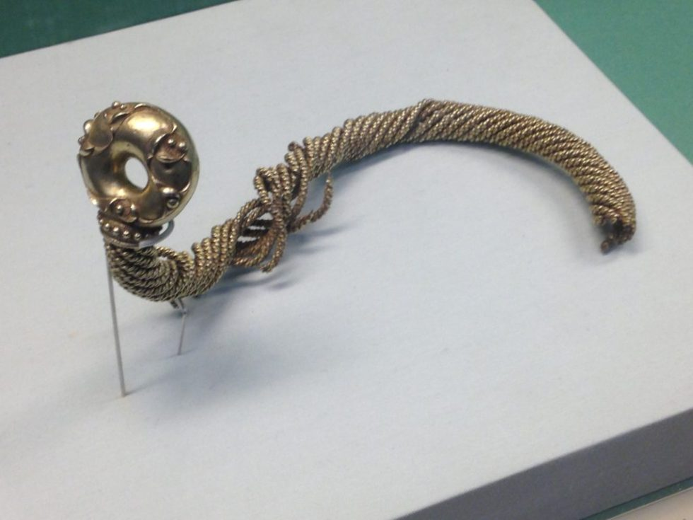 The ravages of time make this broken celtic torc give up some of its making secrets.