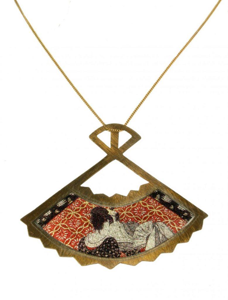 Shunga Fan Necklace