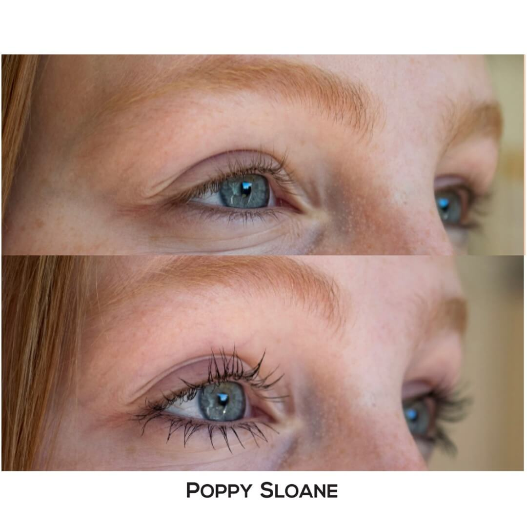 0d2ef02a713 Smudge proof mascara Tres Chic Original - before and after photo. Tubing  Mascara by Poppy Sloane ...