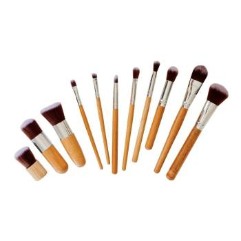 Bamboo 11-Piece Luxury Makeup Brush Set by Poppy Sloane - product photo
