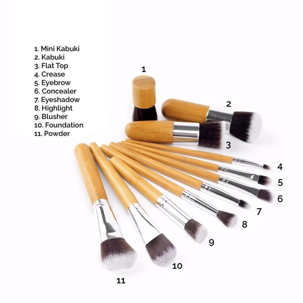 Poppy Sloane Bamboo Luxury 11 Piece Makeup Brush Set