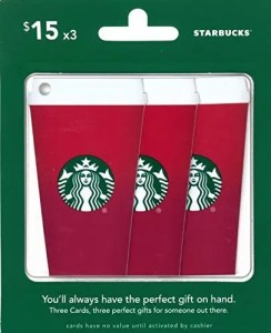 Starbucks Gift Card Set