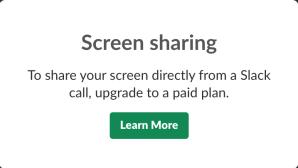 screen sharing slack