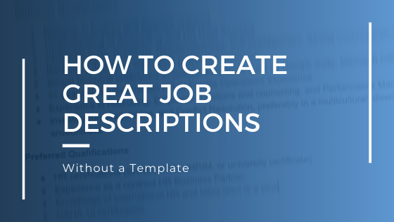 how to create great job descriptions